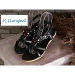 รองเท้าแตะแฟชั่น รัดส้น สวยหรู ดีไซน์สวมแต่งดอกไม้และคลิสตัลหลากสีสวยเก๋มีสไตล์ รัดส้นยางยืดนิ่มกระชับเท้า พื้นนิ่ม ใส่สบาย แมทสวยได้ทุกชุด (FH-450)