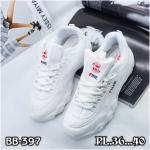 รองเท้าผ้าใบแฟชั่น แต่งลายเก๋สไตล์เกาหลี วัสดุอย่างดี ทรงสวย ใส่สบาย ใส่เที่ยว ออกกำลังกาย แมทสวยเท่ห์ได้ทุกชุด (BB-397)