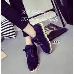 รองเท้าบูท สไตล์ผ้าใบหุ้มข้อ แบบผูกเชือกสุดเก๋ หนังกลับนิ่มมาก ด้านใน บุขนนิ่ม สวมใส่ง่าย ส้นยางกันลื่นหนา 1 นิ้ว ใส่ให้อุ่นๆ กันหนาวนี้ สีแทน กรม ชมพู (A117)