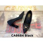 รองเท้าคัทชู ส้นสูง สวยหรู แต่งอะไหล่ด้านหน้า ส้นเหลี่ยมเพิ่มความเก๋ พื้นบุ นิ่ม ใส่สบาย แมทสวยได้ทุกชุด สูงประมาณ 3 นิ้ว (CA8684)