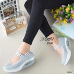 รองเท้าสุขภาพ สไตล์แฟชั่นนิสต้า สวยเกาหลีสุดๆ ตัดเย็บด้วยผ้าตะข่ายและหนังพียูอย่าง ดี สายคาดแบบเมจิกเทป พื้นยางชนิดน้ำหนักเบาเป็นพิเศษ ดีไซน์น่ารัก ใส่สบาย นุ่ม กระชับเท้า สูง 2 นิ้ว แมทสวยได้ทุกชุด สี Black Grey White Black-A (2968)