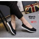 รองเท้าคัทชู ส้นเตี้ย สไตล์เพื่อสุขภาพ วัสดุผ้าหนานุ่มยืดหยุ่น พื้นบุนิ่มรองรับเท้า งานสวย ใส่สบายมาก แมทสวยได้ทุกชุด (265-42)