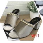 รองเท้าแฟชั่น ส้นสูง แบบสวม แต่งสร้อยมุกสวยหรู ทรงสวยเก็บหน้าเท้า หนังนิ่ม ใส่สบาย ส้นสูงประมาณ 3 นิ้ว แมทสวยได้ทุกชุด (M234)