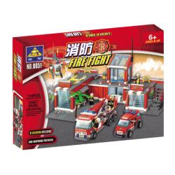 เลโก้จีน Kazi8051 สถานีดับเพลิง