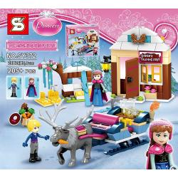 เลโก้จีน SY372 ชุด Princess Frozen Anna & Kristoff's Sleigh Adventure