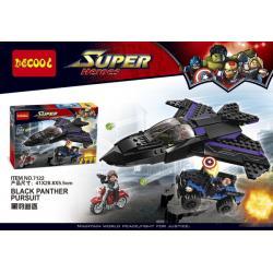 เลโก้จีน Decool.7122 ชุด Black Panther Pursuit