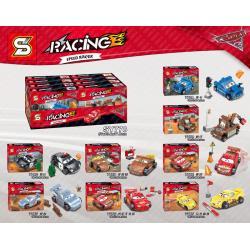 เลโก้จีน SY.778 A-H ชุด Car3 Racing Speed Racer