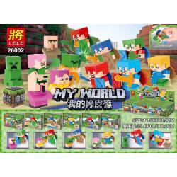 เลโก้จีน LELE.26002 ชุด Minecraft ยางลบ 2in1