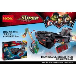 เลโก้จีน Decool7119 ชุด Iron skull sub attack