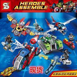 เลโก้จีน SY.7012 A-D ชุด ยานพาหนะ Heroes Assemble