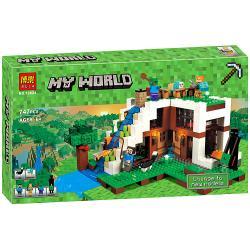 เลโก้จีน BELA.10624 ชุด Minecraft The Waterfall Base