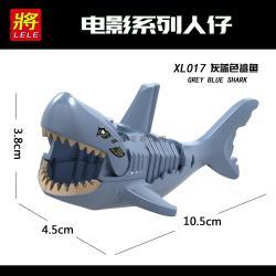 เลโก้จีน LELE.XL017 ชุด Ghost Zombie Shark Grey Blue Shark (สินค้ามือ 1 ไม่มีกล่อง)
