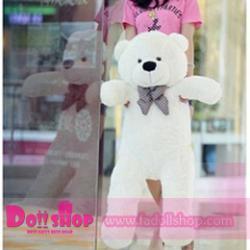ตุ๊กตาหมียิ้ม white 1.2 เมตร