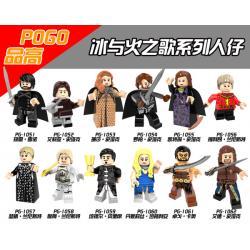 เลโก้จีน POGO.1051-1062 ชุด Game of Thrones S.7 ( สินค้ามือ 1 ไม่มีกล่อง )