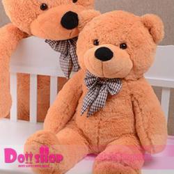 ตุ๊กตาหมียิ้ม light brown 0.8 เมตร