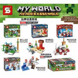เลโก้จีน SY 702A-D ชุด My World Heroes Assemble