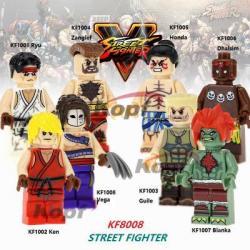 เลโก้จีน KF.1001-1008 ชุด Street Fighter ( สินค้ามือ 1 ไม่มีกล่อง )