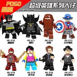 เลโก้จีน POGO.370-377 ชุด Super Heroes (สินค้ามือ 1 ไม่มีกล่อง)