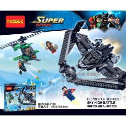 เลโก้จีน Decool7118 ชุด Heroes of justice sky high battle