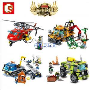 เลโก้จีน SD.9547-9550 ชุด City Rescue Team