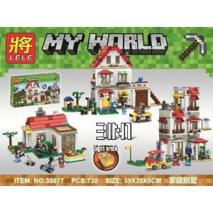 เลโก้จีน LELE.33077 ชุด Minecraft 3in1 มีไฟ