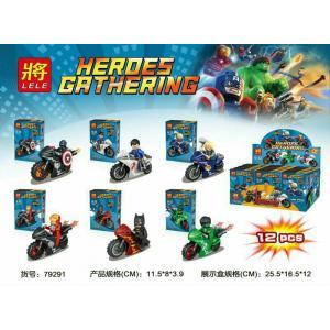 เลโก้จีน LELE79291 ชุด Heroes Gathering มอเตอร์ไซต์