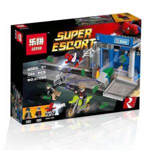 เลโก้จีน LEPIN.07089 ชุด Spiderman ATM Heist Battle