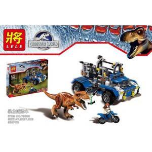 เลโก้จีน LELE 79095 ชุด Jurassic World T-rex Tracker