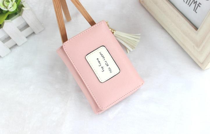 กระเป๋าสตางค์ผู้หญิง prettier สี Pink