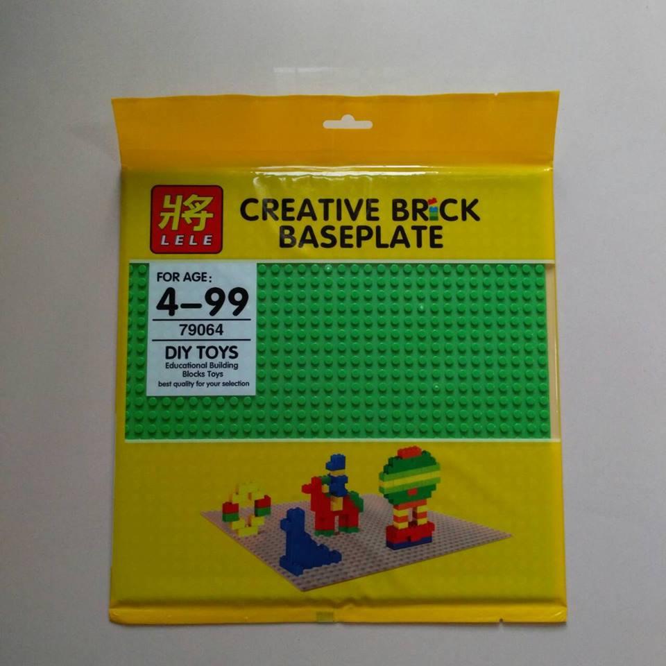 แผ่น Plate ขนาด 32*32 ปุ่ม สีเขียว LELE 79064 ชุด BasePlate