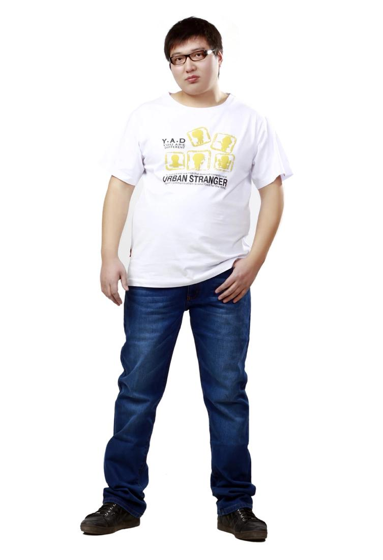 พรีออเดอร์ เสื้อยืด ไซต์ M - 7XL แฟชั่นเกาหลีสำหรับผู้ชายไซต์ใหญ่ แขนสั้น เก๋ เท่ห์ - Preorder Large Size Men Size M - 7XL Korean Hitz Short-sleeved T-Shirt