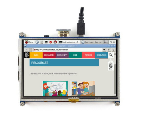 5inch HDMI GPIO Resistive Touch Screen display LCD