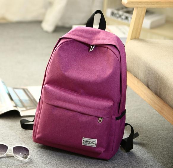 Solid shoulder female bag (สีชมพู)