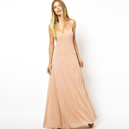 **พรีออเดอร์** ชุดเดรสผู้หญิงแฟชั่นยุโรปใหม่ แขนกุด แบบเก๋ เท่ห์ / **Preorder** New European Fashion Slim Sexy Evening Gown Dress