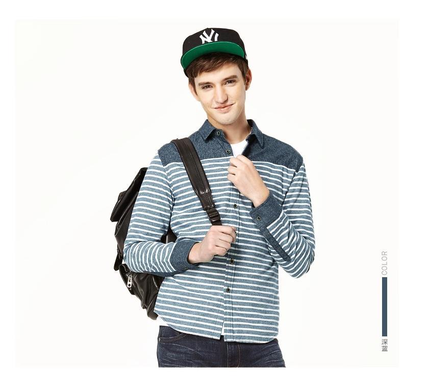 พรีออเดอร์ เสื้อเชิ้ตแฟชั่นอเมริกา และยุโรปสไตล์ สำหรับผู้ชาย แขนยาว เก๋ เท่ห์ - Preorder Men American and European Hitz Style Slim Long-sleeved Shirt
