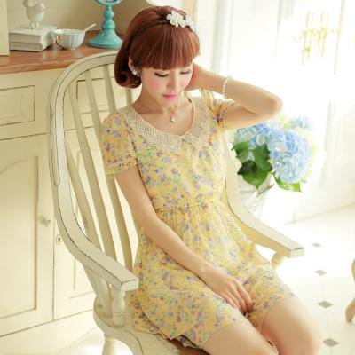 [พรีออเดอร์] เสื้อเดรสแฟชั่นเกาหลี แบรนด์ Kaven Dream สวยหวาน แขนสั้น - [Preorder] Women Korean Hitz Kaven Dream Brand Sweet Slim Short-Sleeved Dress