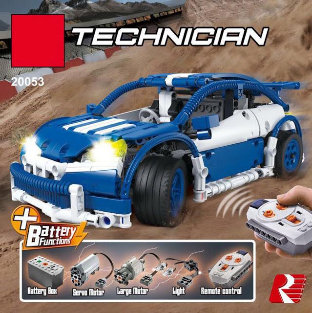 เลโก้จีน LEPIN.20053B ชุด Technic Hatchback Type R White-Blue Edition บังคับวิทยุ