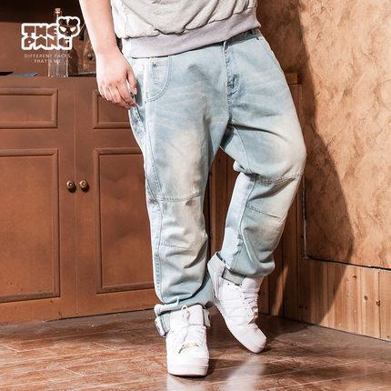[พรีออเดอร์] กางเกงยีนส์แฟชั่นเกาหลีผู้ชายไซต์ใหญ่ size 38 - 46 ขายาว - [Preorder] Plus size Men ฺKorean Hitz size 38 - 46 Long Jeans