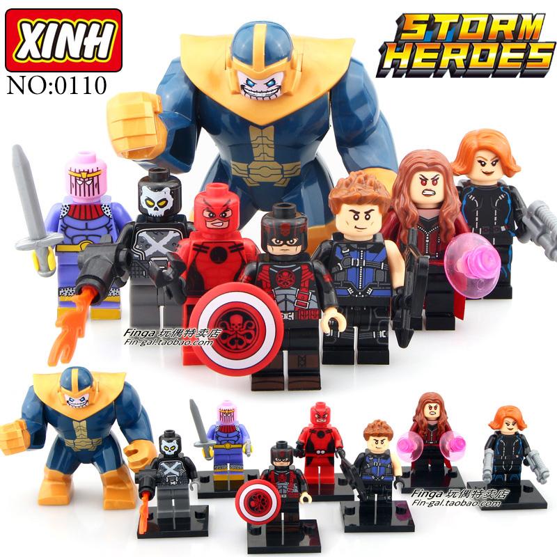 เลโก้จีน XINH 235-242 ชุด Super Heroes (สินค้ามือ 1 ไม่มีกล่อง)