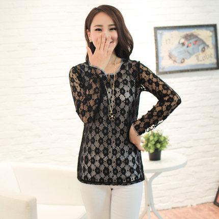 [พร้อมส่ง} เสื้้อแฟชั่นเกาหลีใหม่ สีดำ สีบานเย็น แขนยาว สำหรับผู้หญิงไซส์ใหญ่ 2XL- [In Stock] New Korean Fashion Shirt Long-Sleeved for Large Size Woman