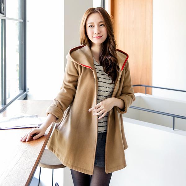 พรีออเดอร์ เสื้อกันหนาวแฟชั่นไต้หวันไซส์ใหญ่ ยี่ห้อ Orange Bear มีฮู๊ดแขนยาว สำหรับสาววัยทีน สุดชีค - Preorder Large Size Women Taiwan Hitz Brand Orange Bear Long-Sleeved with Hood Jacket