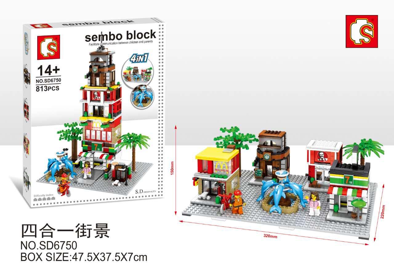 เลโก้จีน Sembo Block SD6750 ชุด Ministreet
