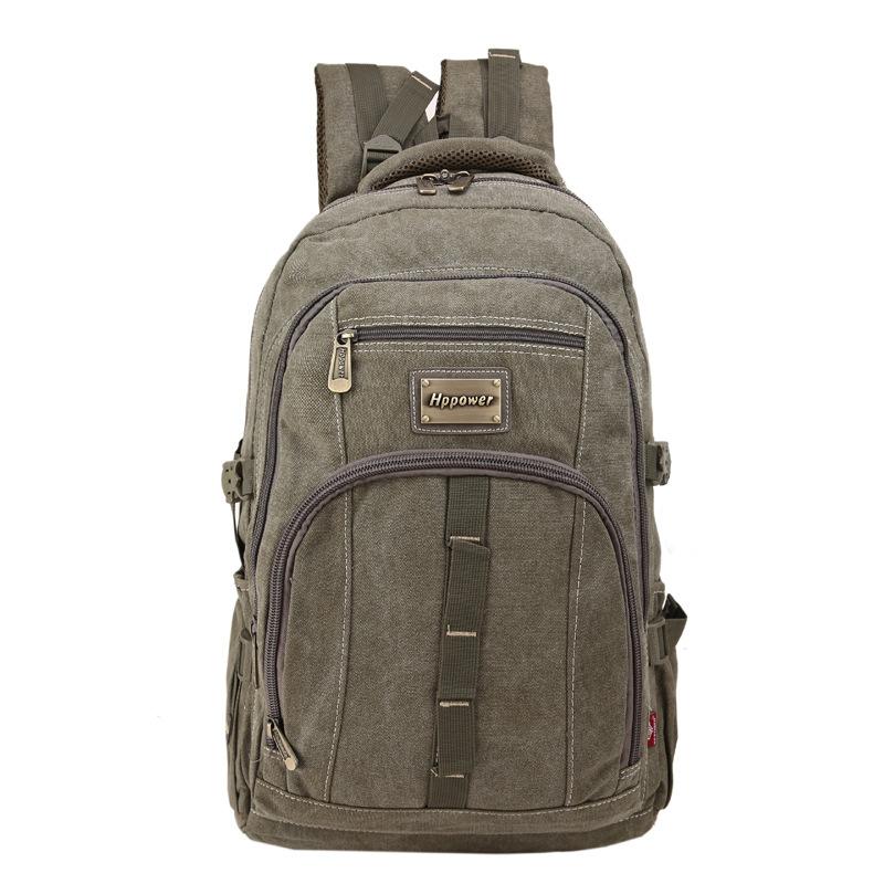 กระเป๋าเป้สะพายหลังสารพัดประโยชน์ สวย ทน เท่ห์ คุณภาพชั้นนำเป็นที่ยอมรับระดับสากล Solid 16 Canvas Backpack Retro Men's Shoulder Bags Backpack Student Large School bag High quality