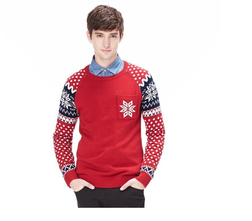 พรีออเดอร์ เสื้อไหมพรมแฟชั่นอเมริกา และยุโรปสไตล์ สำหรับผู้ชาย แขนยาว เก๋ เท่ห์ - Preorder Men American and European Hitz Style Slim Long-sleeved Sweater