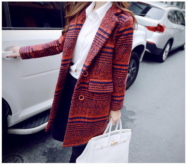 พรีออเดอร์ เสื้อโค้ทกันหนาวแฟชั่นเกาหลี ไซส์ใหญ่ แขนยาว - Preorder Plus Size Women Korean Hitz Long Long-sleeved Female Winter Coat