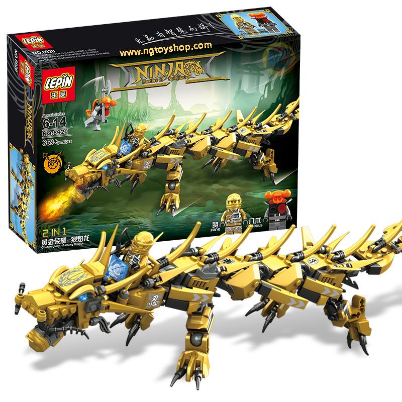 เลโก้จีน LEPIN.8920 ชุด Ninja Go Movie มังกรทอง