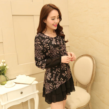 [พรีออเดอร์] เสื้้อเดรสสั้นแฟชั่นเกาหลีใหม่ สำหรับผู้หญิงไซส์ใหญ่ - [Preorder] New Korean Fashion Short Dress for Large Size Woman