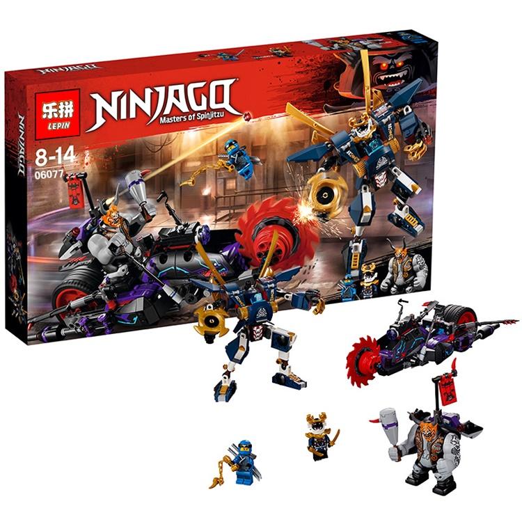 เลโก้จีน LEPIN.06077 ชุด Ninja Go Killow vs. Samurai X