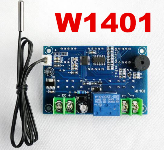 W1401 DC12V digital display LED Intelligent temperature controller thermometer control With NTC sensor