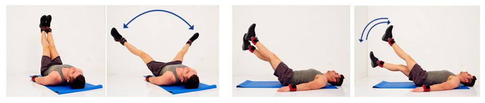 การใช้ wrist weight ชุดถ่วงน้ำหนักบริหารร่างกายในท่าต่างๆ